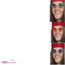 Seventies Hippy Specs (Assorted Colours) - Adult Accessory