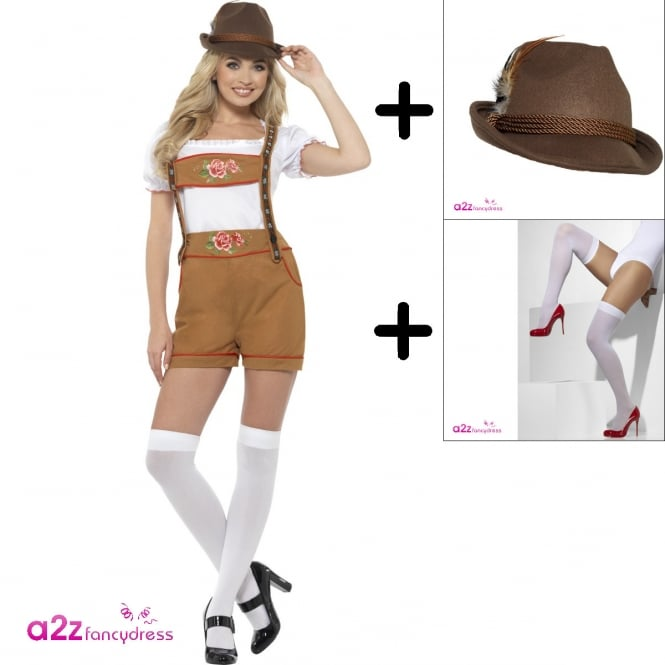 Sexy Bavarian Beer Girl - Adult Costume Set (Costume, Hat, Pull Ups)