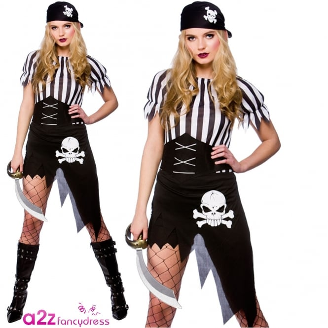 Shipwrecked Pirate - Adult Costume