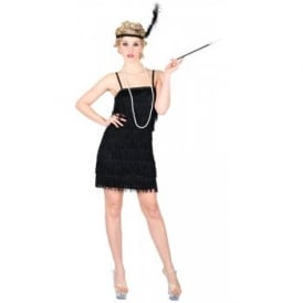 Showtime Flapper (Black) - Adult Costume