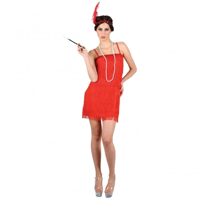 Showtime Flapper Girl (Red) - Adult Costume