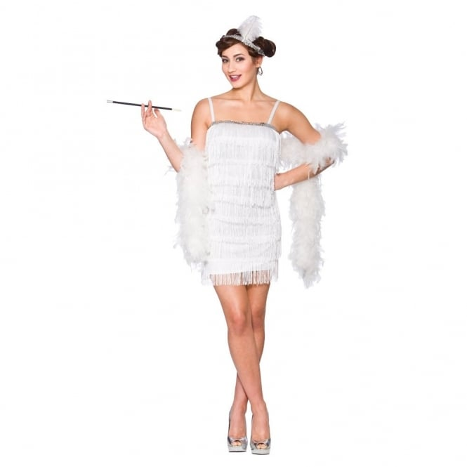 Showtime Flapper (White) - Adult Costume