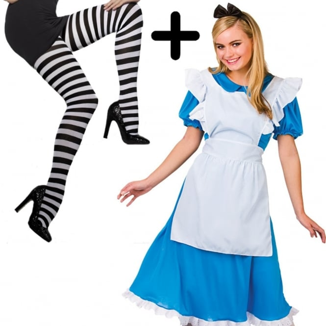 ~ Storybook Alice - Adult Costume Set 1 (Costume, Striped Tights)