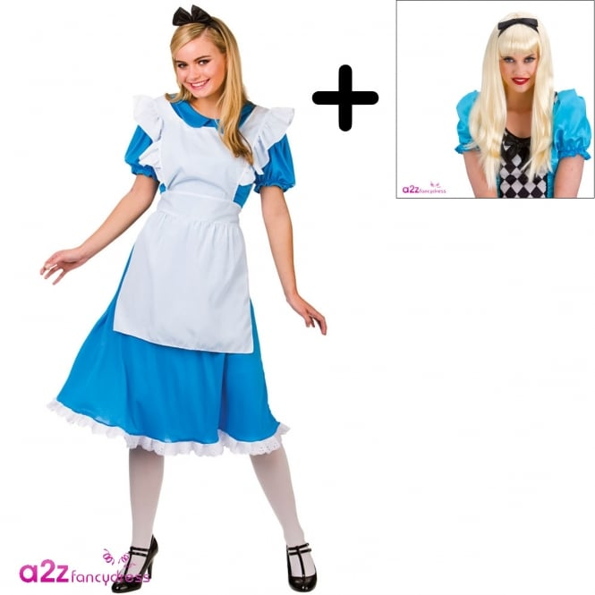 ~ Storybook Alice - Adult Costume Set 2 (Costume, Wig)