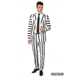 Striped Black and White - Adult Suitmeister
