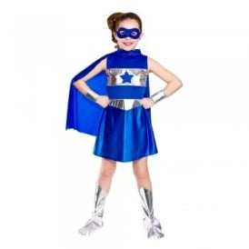 Super Hero Girl (Blue) - Kids Costume