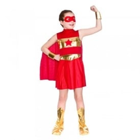 Super Hero Girl (Red) - Kids Costume