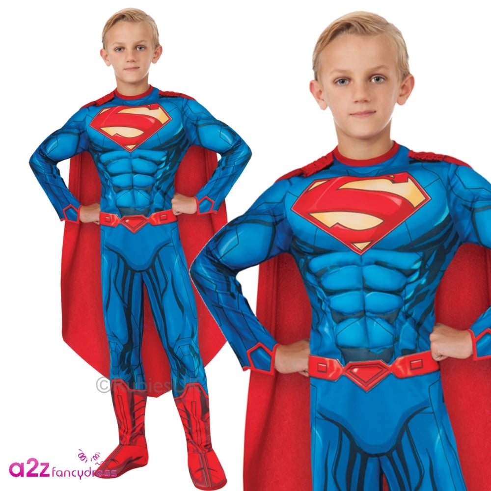 Men/'s Deluxe Superman Muscle Chest Costume