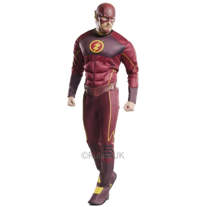 DC COMICS ~ The Flash Fastest Man Alive Deluxe - Adult Costume
