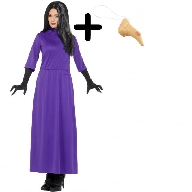 ROALD DAHL ~ The Witches - Adult Costume Set (Costume, Nose)