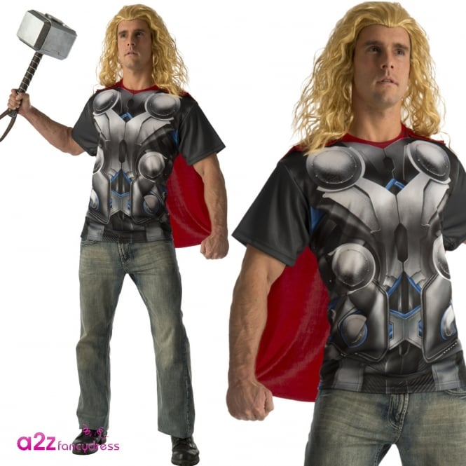 AVENGERS - ASSEMBLE ~ Thor T-Shirt Set - Adult Costume