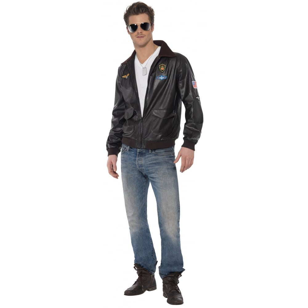 Top Gun Bomber Jacket Adult Costume Mens Costumes From A2z Fancy