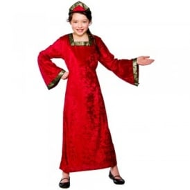Tudor Princess (Red) - Kids Costume
