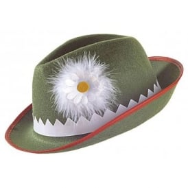 Green Tyrolean Hat - Adult Accessory