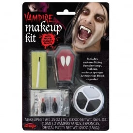 Vampire Make Up Kit with Fangs - Adult Accessory