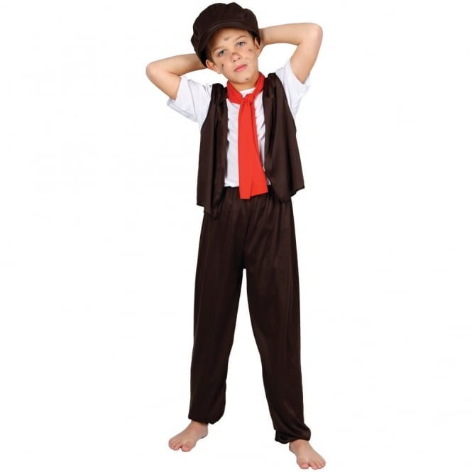 Chimney Sweep Kids Fancy Dress Victorian Historical Book Day Film Childs Costume