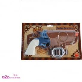 Western Water Pistol & Holster - Adult Accessory
