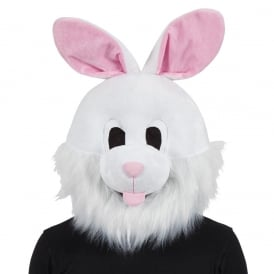White Easter Bunny Mascot Head - Adult Accessory