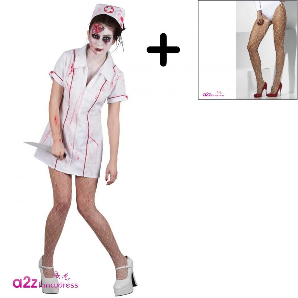 a2a2c6f862593 Killer Zombie Nurse - Adult Costume Set (Costume, Tights) - Adult ...