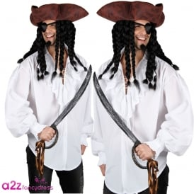 White Pirate Shirt - Adult Accessory