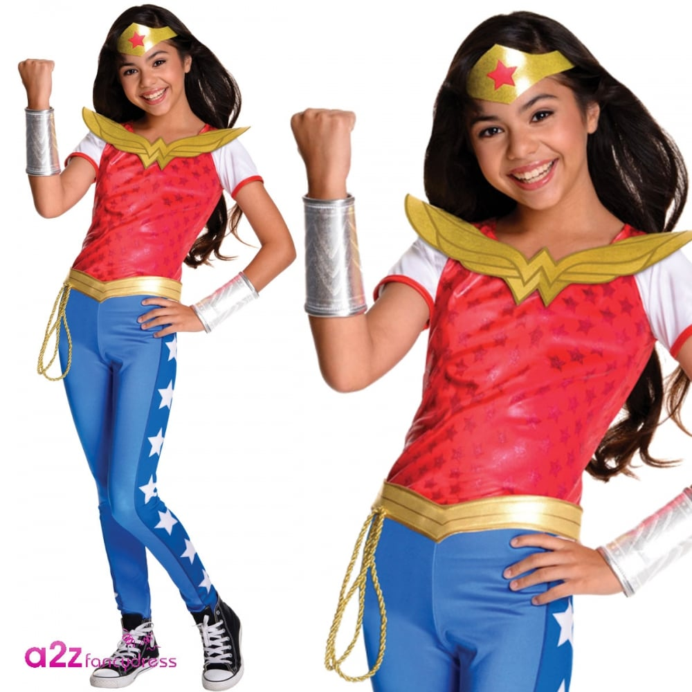Wonder Woman Halloween Costume Kids.Deluxe Dc Comics Superhero Kids Costume