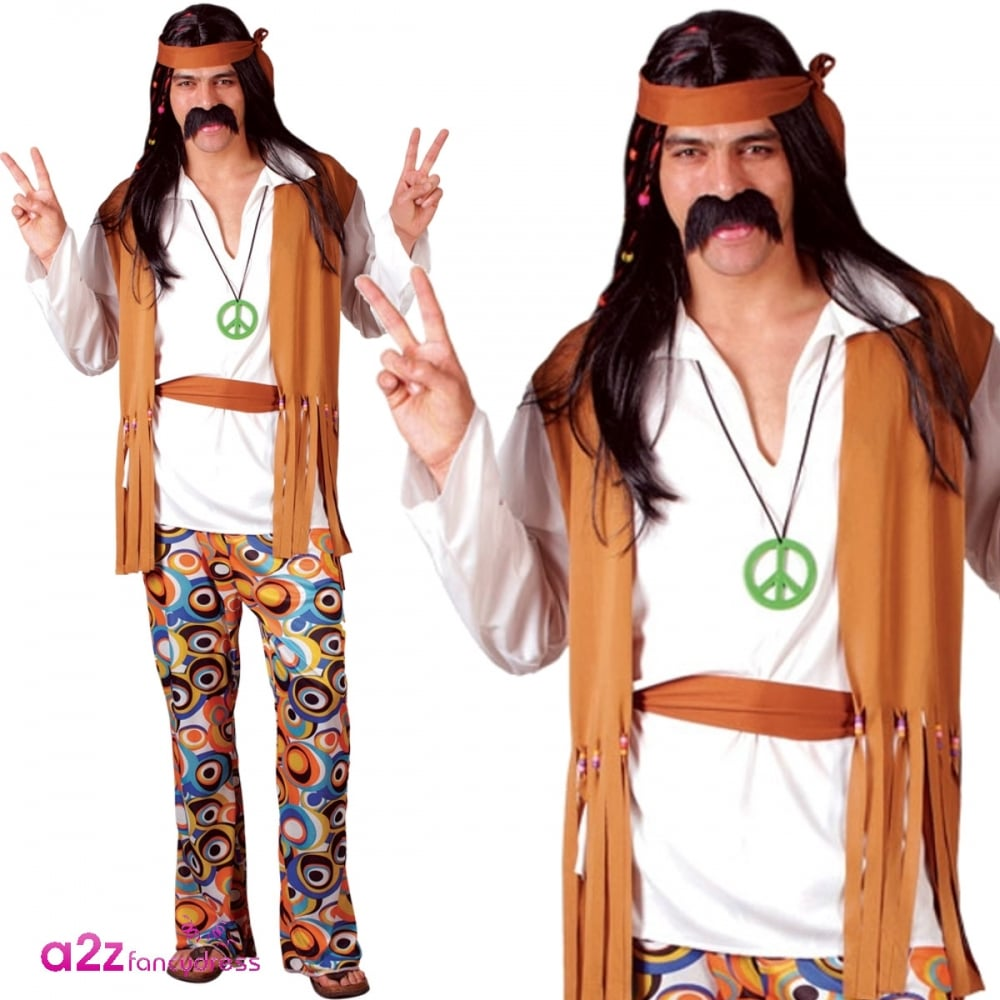 woodstock hippie - adult fancy dress costume
