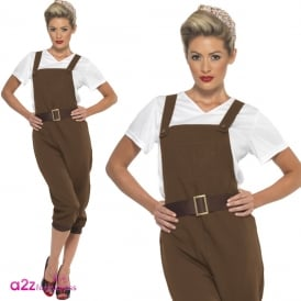 WW2 Land Girl (Brown) - Adult Costume