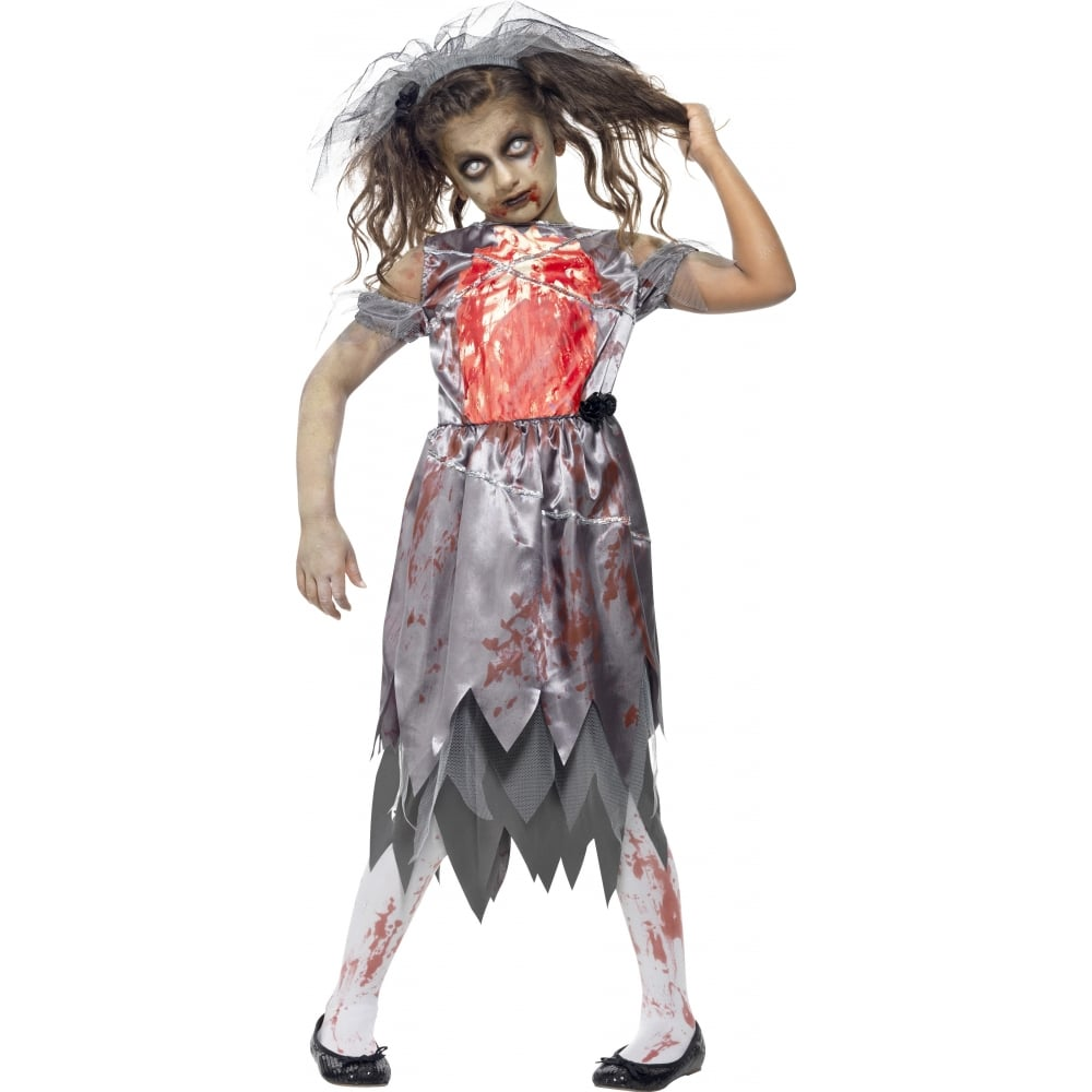 zombie bride - kids costume - kids costumes from a2z fancy dress uk