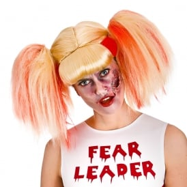 Zombie Cheerleader Wig - Adult Accessory