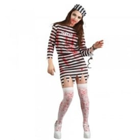 Zombie Convict (Ladies) - Adult Costume