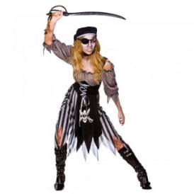 Zombie Cutthroat Pirate - Adult Costume