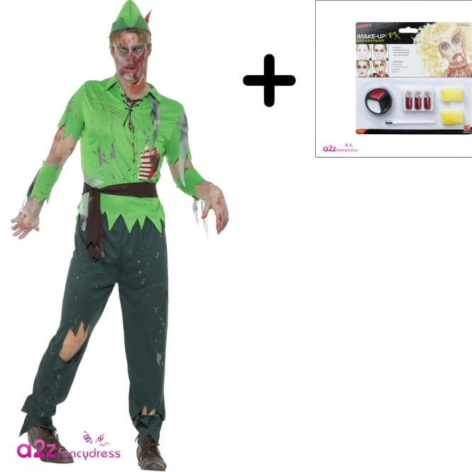 Zombie Lost Boy - Adult Costume Set (Costume, Make Up)