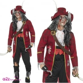 Zombie Pirate Captain - Adult Costume