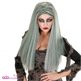 Zombie Woman Grey Wig - Adult Accessory